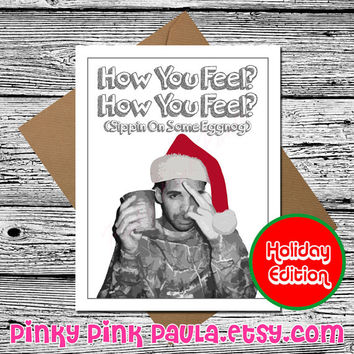 Funny Christmas Card (drake card drake gift holiday merry xmas seasons greeting card for boyfriend girlfriend sister him her men mom dad )