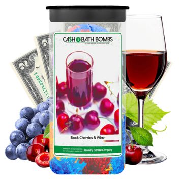 Black Cherries & Wine Cash Bath Bombs Twin Pack