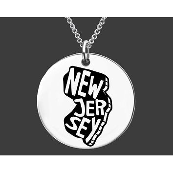 New Jersey State Necklace | Personalized State Necklace
