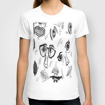 Faces T-shirt by Yuval Ozery
