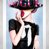 Frida Gustavsson Vogue Germany 13x19 Fashion by DannyRoberts