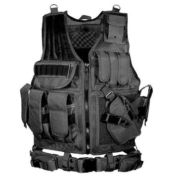 Army Combat Tactical Vest Military Protective Airsoft Camouflage Molle Vest Outdoor Hunting Training Vests Clothes Accessories