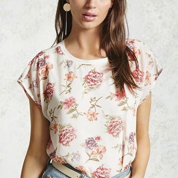 Floral Cap Sleeve Top