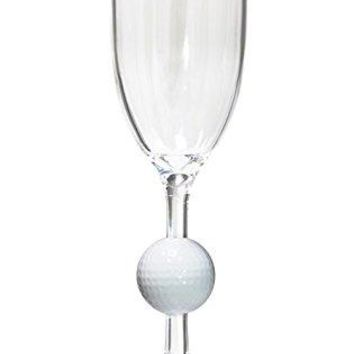 Diligence4us AS-0303 Golf Ball Outdoor Wine Glass, Set of 4, Clear