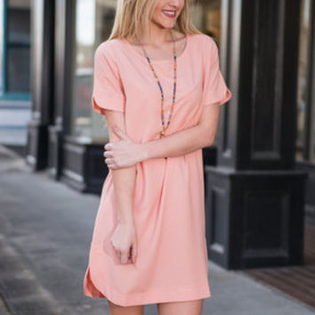 Special Attention Dress, Peach Echo