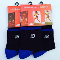 New Balance Men Casual Sport Embroidery Thick Socks Stockings