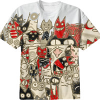 Lot Cats created by nekomeandon | Print All Over Me
