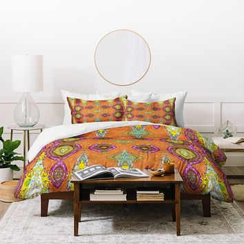 Ingrid Padilla Fancy Orange Duvet Cover