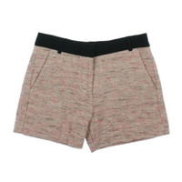 French Connection Womens Textured Metallic Dress Shorts