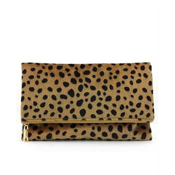 Leopard Fold Over Clutch IN STOCK NOW!