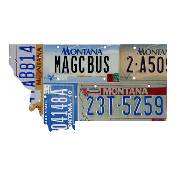 Montana License Plate wall decal