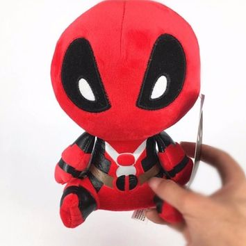 5pcs/lot 20CM Deadpool Marvel Variant Superheroes Classic Plush Doll Cute Action Figure Cartoon Kids Gift