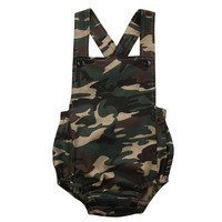 Camouflage Newborn Baby Romper Clothes Baby Clothing