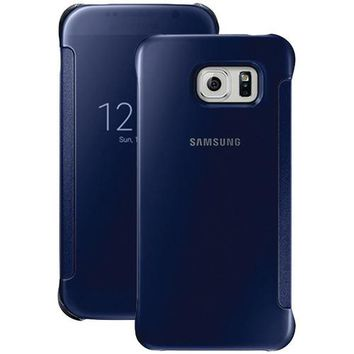 Samsung Samsung Galaxy S 6 S-view Flip Cover (clear And Black Sapphire) (pack of 1 Ea)