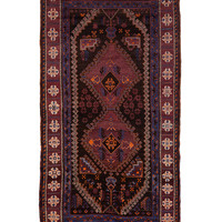 """Tribal Hand-Knotted Rug (10'1""""x5'4"""")"""