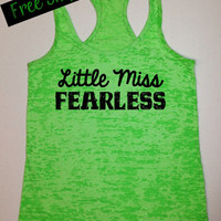 Fitness Workout Tank...Little Miss Fearless...Burnout Racerback Tank Top...Little Miss Workout Collection.