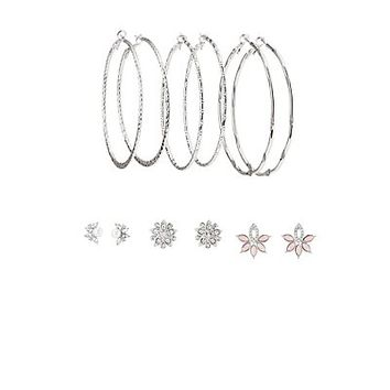 Embellished Hoop & Stud Earrings - 6 Pack | Charlotte Russe
