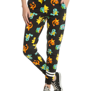 Pokemon Starters Girls Jogger Pants