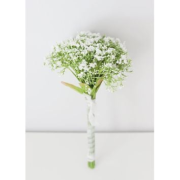 "White Baby's Breath Artificial Bouquet - 12"" Tall"