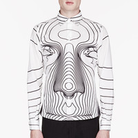 Christopher Kane White Big Face Print Shirt