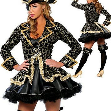 Sexy women cosplay Party Deluxe Pirate Costume Adult cosplay halloween costumes