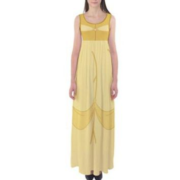 Beauty and the Beast Belle Inspired Tank Style Maxi Dress