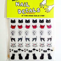 CATS & CROSSES nail decals