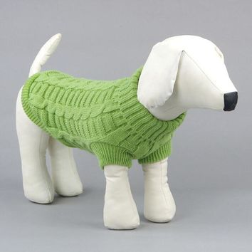 Cute Puppy Costume Pet Dog Cats Knitwear Dogs Warm Coats Sweater Clothes Jumper
