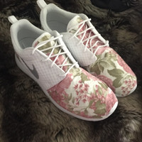 Custom floral womens Roshe Runs!