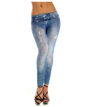 Casual Straight Skinny Jeans For Girls
