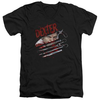 Dexter - Blood Never Lies 2 Short Sleeve Adult V Neck