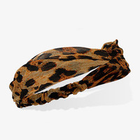 Knotted Leopard Headwrap