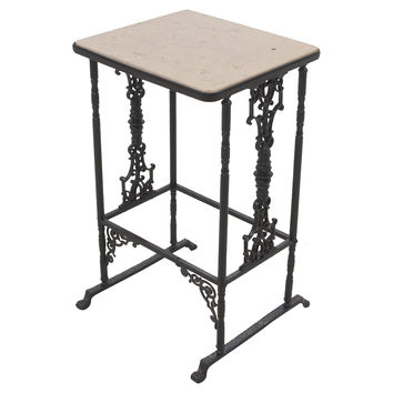 Marble-Top Accent Table