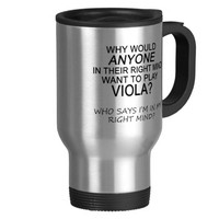 Right Mind Viola 15 Oz Stainless Steel Travel Mug