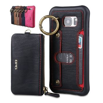 PU Leather Wallet Case Credit Card Holder Slot Shockproof Cover for iPhone 6 6s 6Plus 6sPlus 7 7Plus 8 8Plus/Samsung Galaxy S7 S