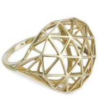 "Solange - ""Skeleton"" Gold Ring  (Gold)"