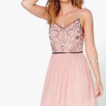 Lisa Boutique Embellished Prom Maxi Dress | Boohoo