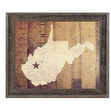 'West Virginia Rustic' Graphic Art