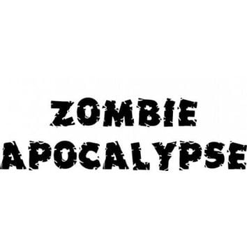 Zombie Apocalypse word sticker DEAD zombies Resident Evil Edition Hood Decal Sticker WALKING