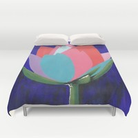 Flashy Flower Duvet Cover by Kathleen Sartoris