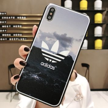 Adidas New fashion letter leaf landscape print protective cover phone case