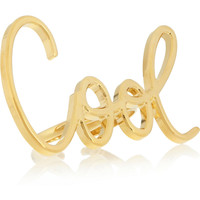 Lanvin | Stephanie gold-tone ring  | NET-A-PORTER.COM