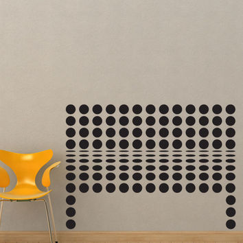Vinyl Wall Decal Sticker Polka Dot Bench #OS_DC775