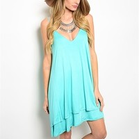 Mint Green Summer Tank Dress