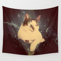 Lazer Kat Wall Tapestry by Bunhugger Design
