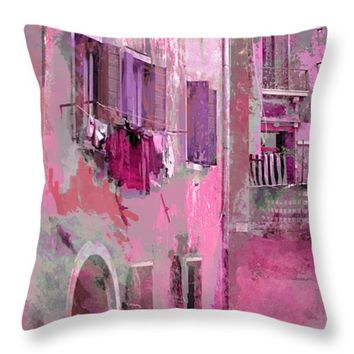 Venice Washday In Pink by Suzanne Powers