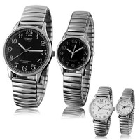 Men's Women's Couple Lover Design Vintage Alloy Quartz Analog Stretchable Wrist Watch = 1929674948
