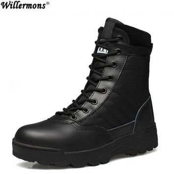 2017 Outdoor Army Boots Men's Military Desert Tactical Boot Shoes Winter Breathable Combat Ankle Boots Botas Tacticos Zapatos