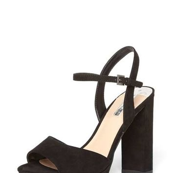Black 'Sicily' Platform Sandals - Sandals - Shoes & Boots