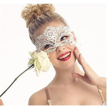 20Pcs Masque Sexy Female Mask Anonymous Masquerade Upper Face Lace Mask Fashion Beauty Dacing Party Eye Mask Halloween